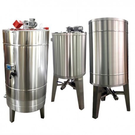 Stainless steel tank 500 l, with stirrer and heating