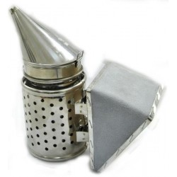 Galvanized smoker, small hole heat shield (H - 24 cm)
