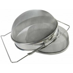 Double strainer, stainless, convex, Ø 24 cm