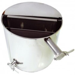 Stainless settler 50 l, with vertical sieve