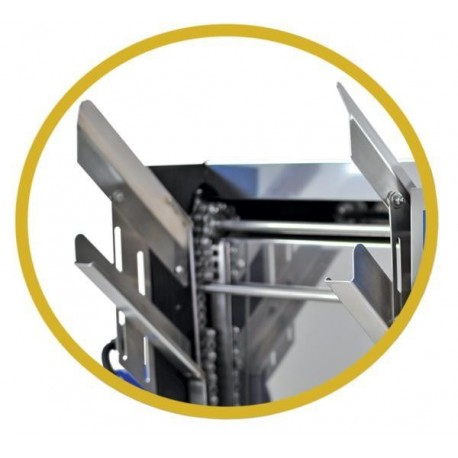 Frame holder for manual feed uncapping machine