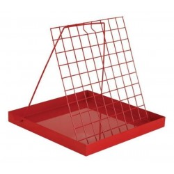 Uncapping tray, painted (42×42×4 cm)