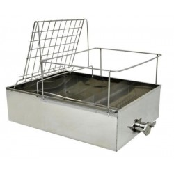 "Stainless uncapping tray with 5/4"" honey gate"