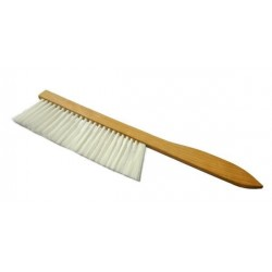Wooden brush with synthetic bristle, long
